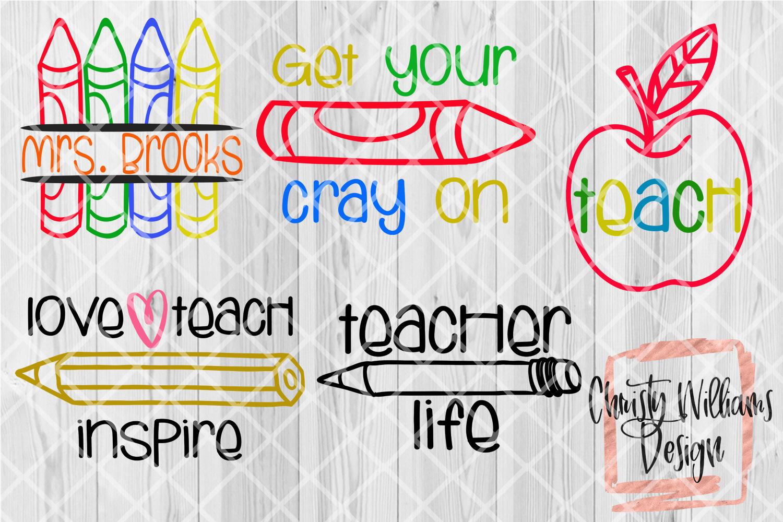 Teacher SVG Bundle 5 Designs example image 1
