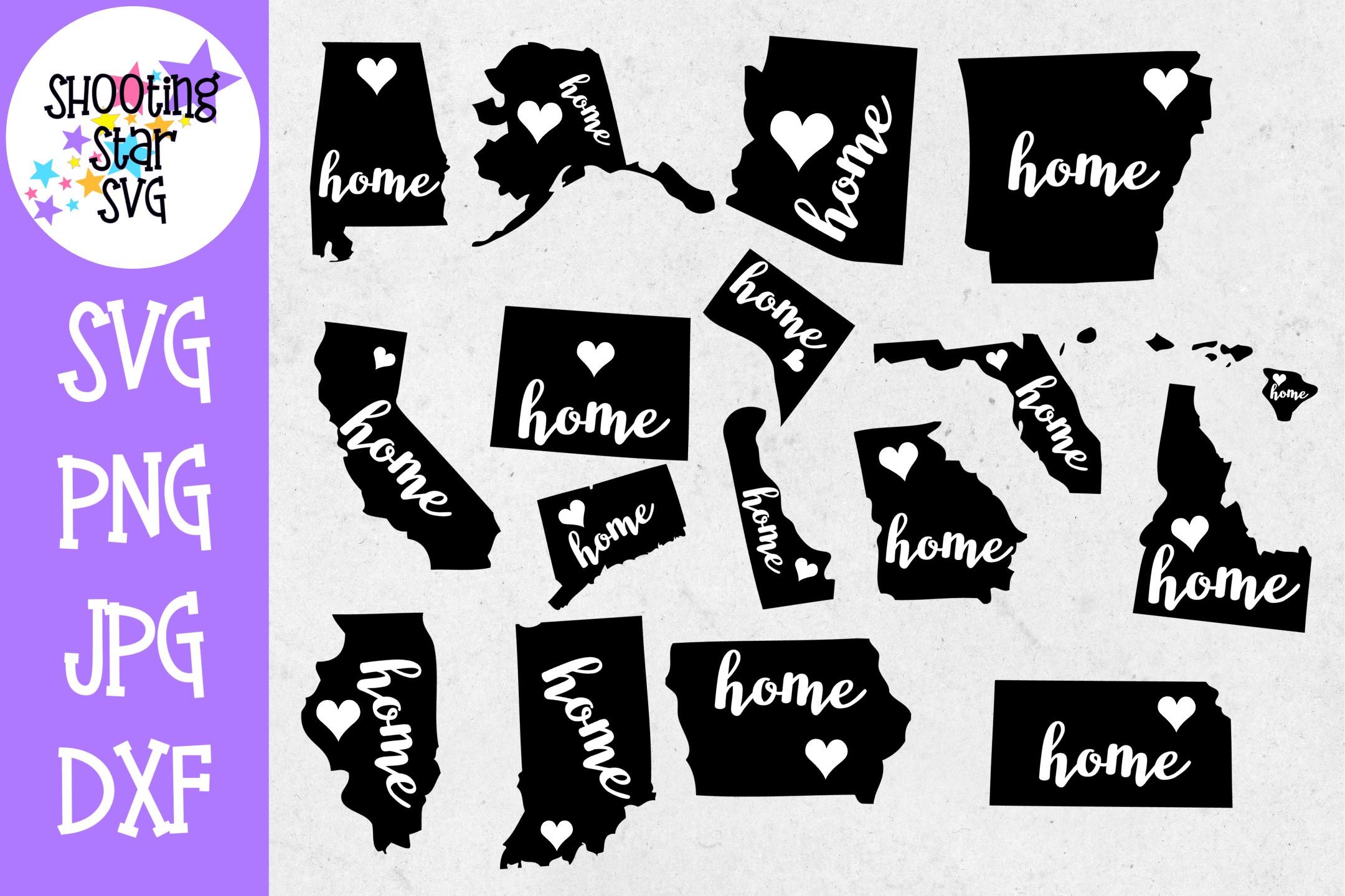 US State MEGA Bundle - 5 US State Bundles - US State SVG example image 10