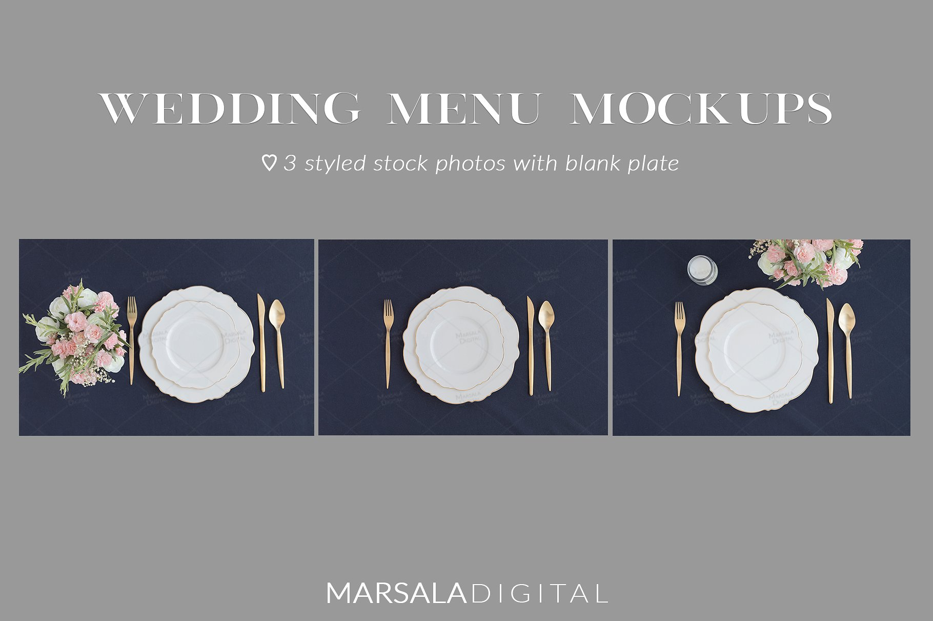 Blush and Navy Wedding Mockup Bundle example image 7