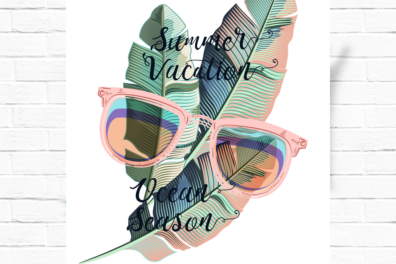 Fun and positive vector tropical backgrounds example image 2