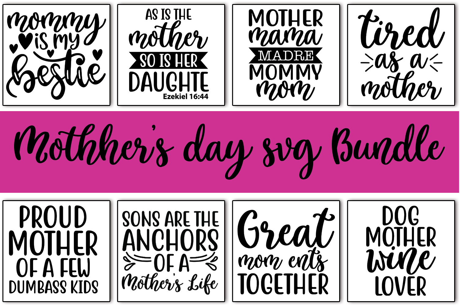 20 Mother's day Quotes SVG Bundle Vol_0.3 example image 2