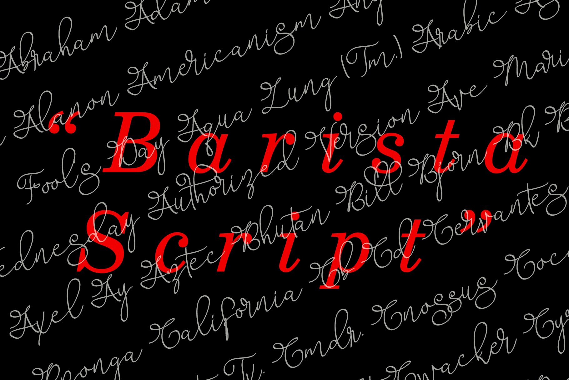 Barista Script Font example image 3