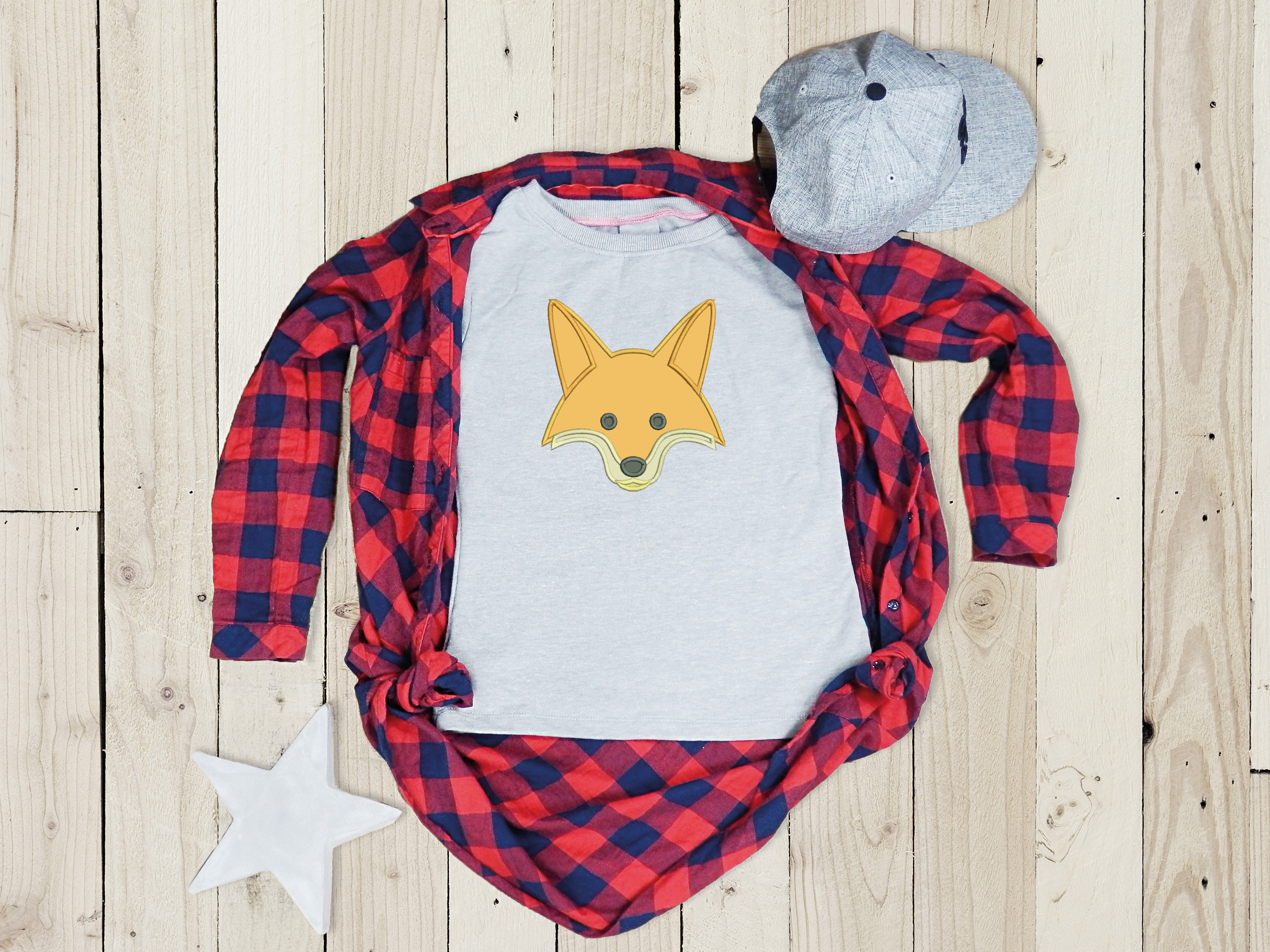 Fox Applique Design, Fox Embroidery Design, Wild Animals example image 6