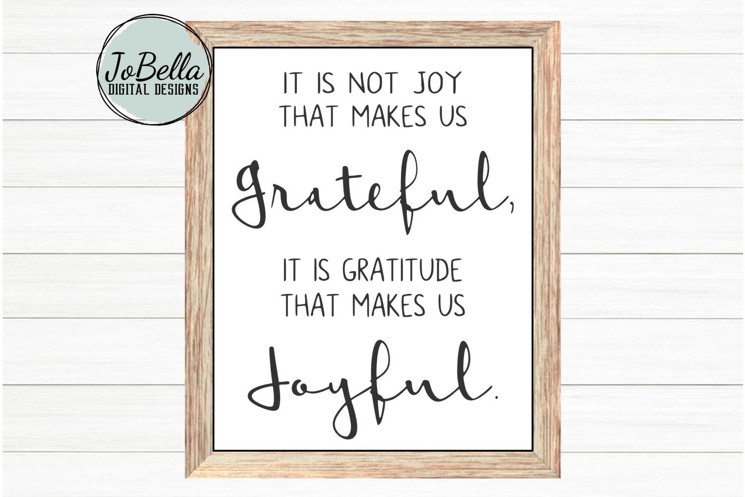 Joyful and Grateful SVG and Printable Farmhouse Design example image 1