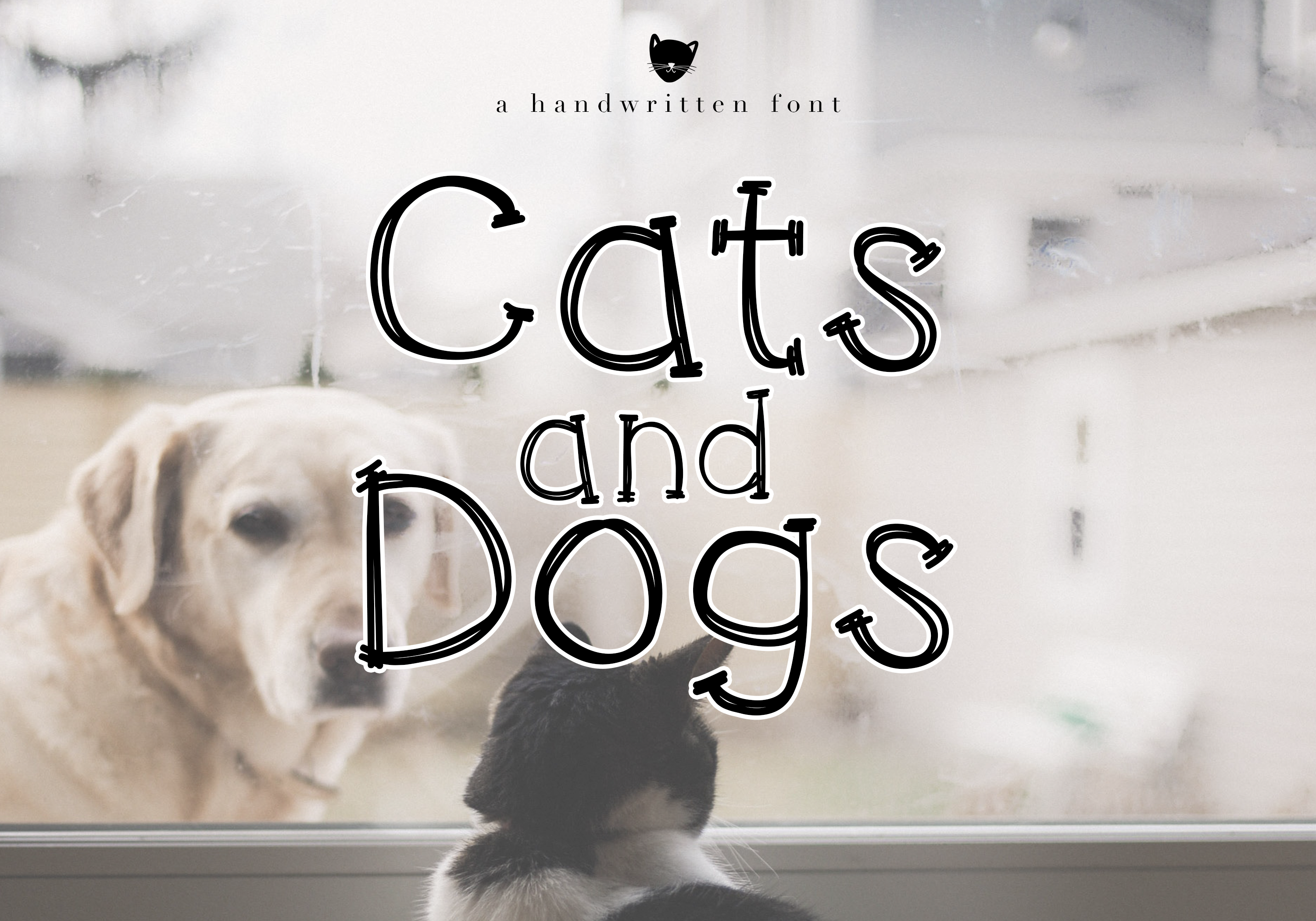 Cats and Dogs - A Cute Handwritten Font example image 1