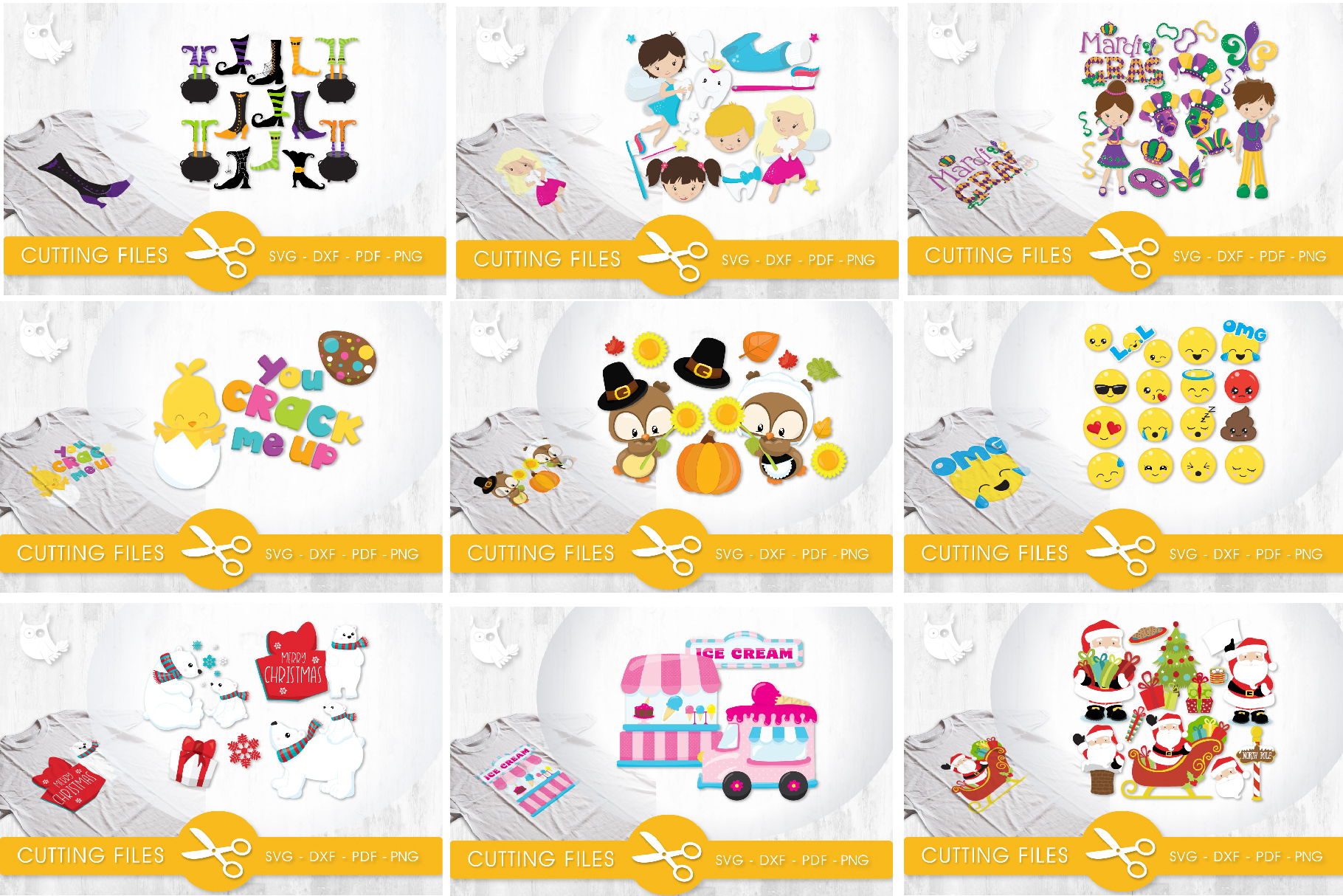 The AMAZING CRAFT BUNDLE, 1500 in 1, cutting file svg, dxf, example image 13