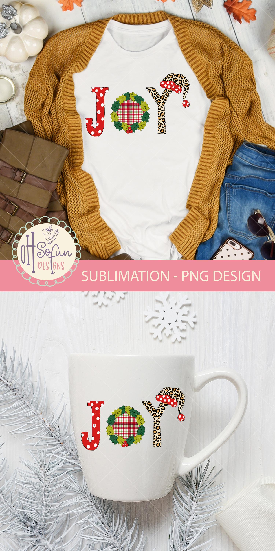 Joy christmas sublimation, chrismas doodle polka dot example image 3