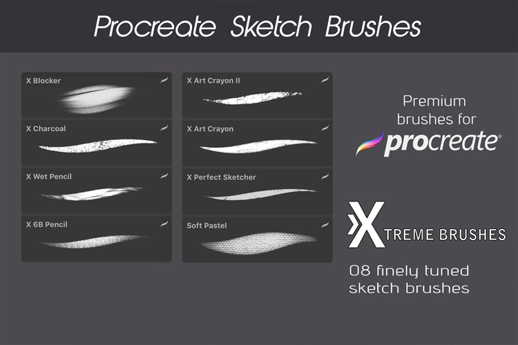 Procreate Sketch Brushes example image 2