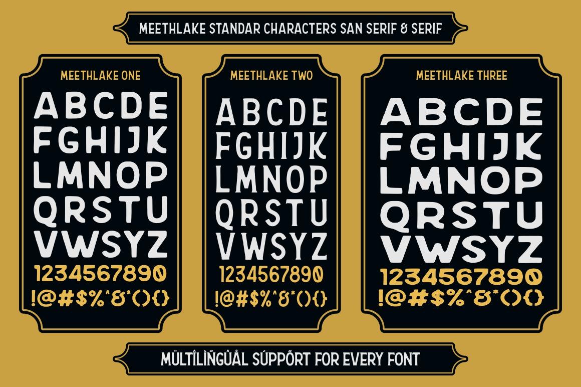 Meethlake Typeface example image 12