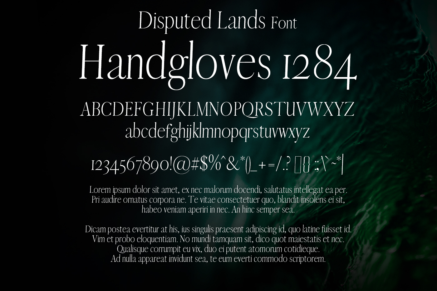Disputed Lands Font example image 2