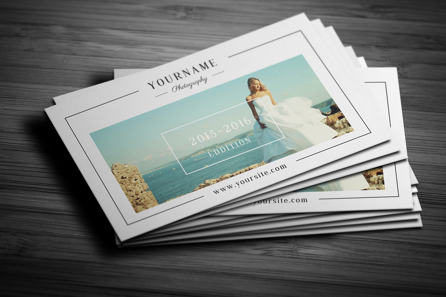 Minimal Wedding Photography Business Card  example image 2
