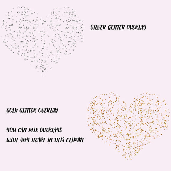 Watercolor hearts clipart example image 3
