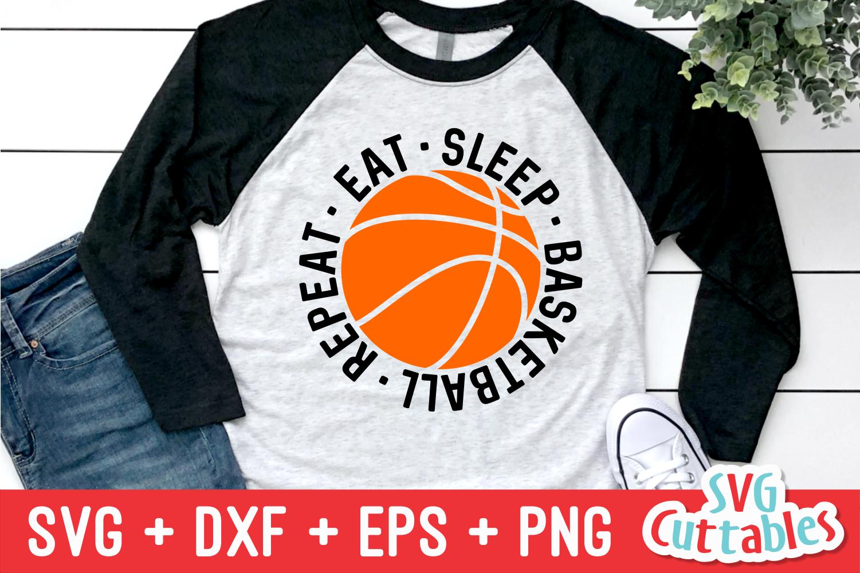 Basketball SVG | Eat Sleep Basketball Repeat example image 1
