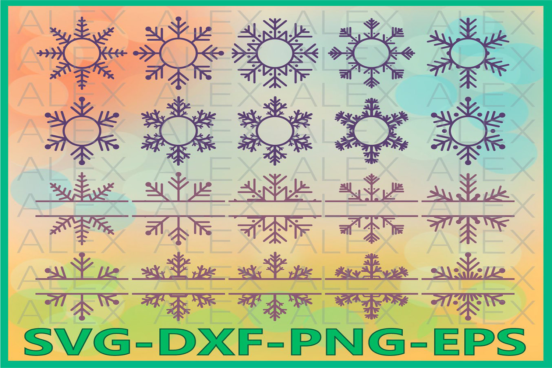 Snowflake svg, Snowflake Monogram svg, Christmas Snowflake example image 1