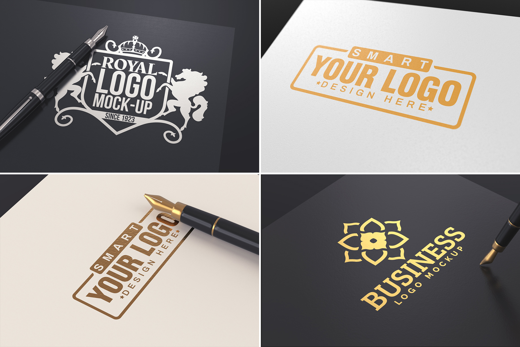 100 Logo Mockups Bundle Vol.3 example image 12