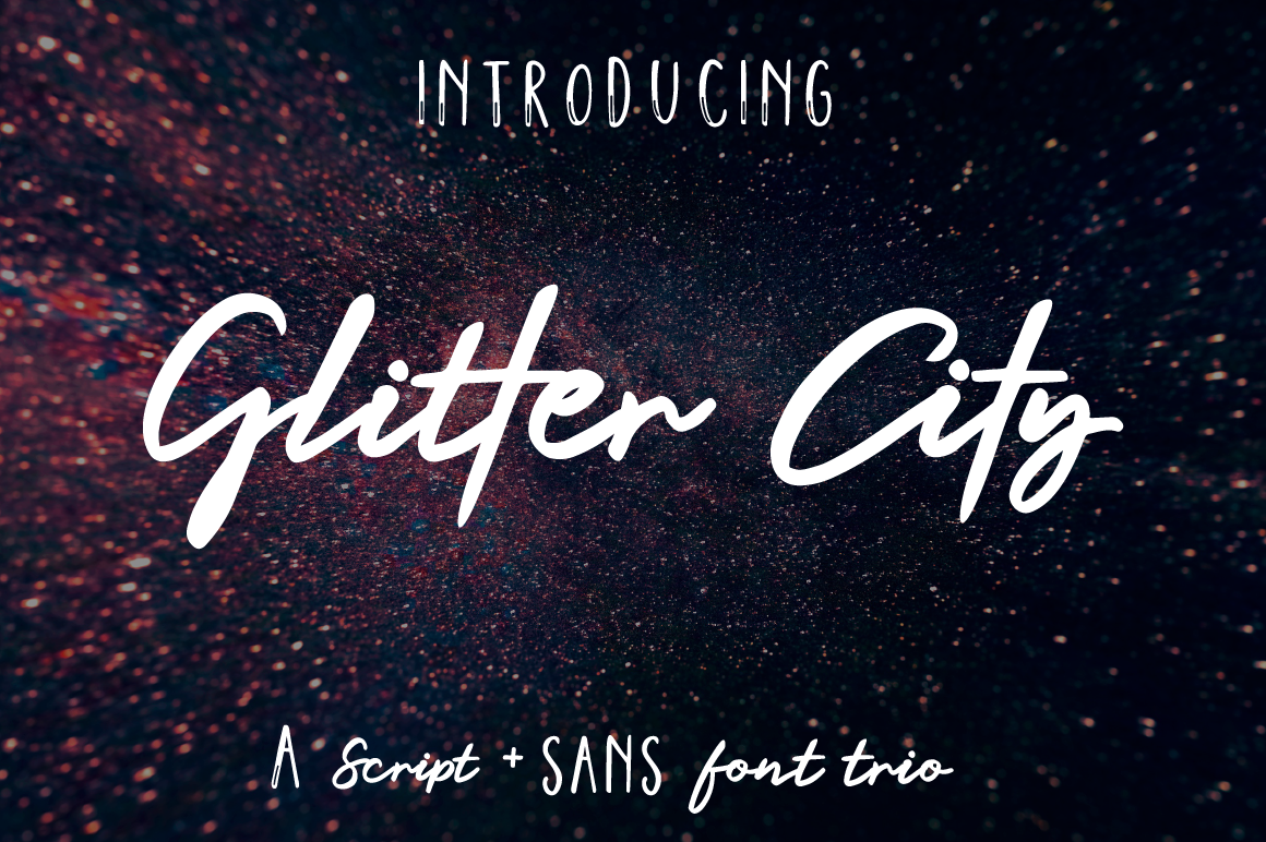 Glitter City Font Trio  Logos example image 1