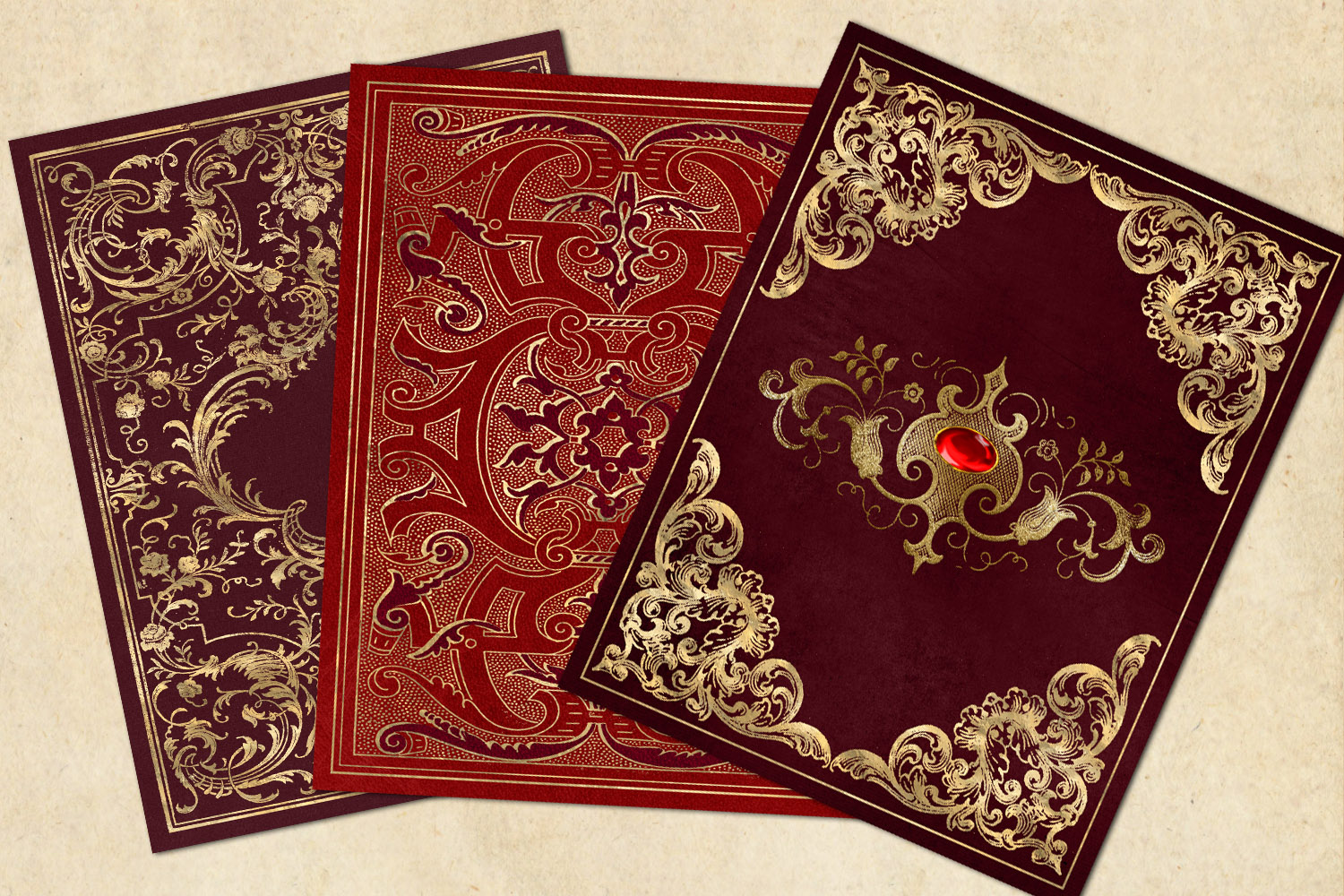 Gilded Red Book Covers example image 2