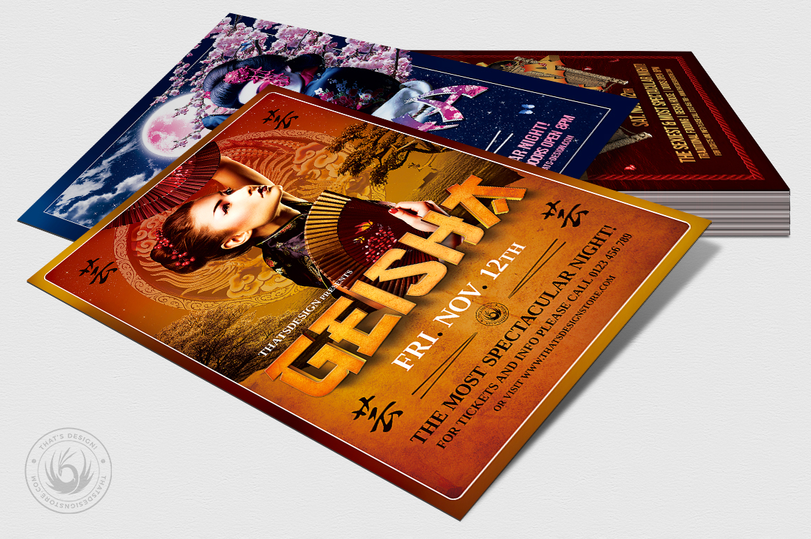 Geisha Night Flyer Bundle example image 4