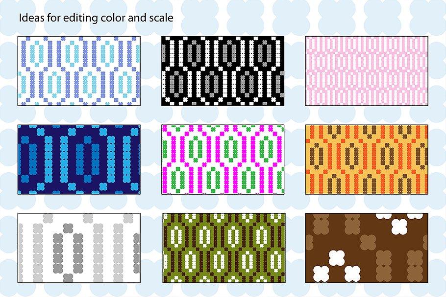 Small Seamless Geometric Patterns example image 3