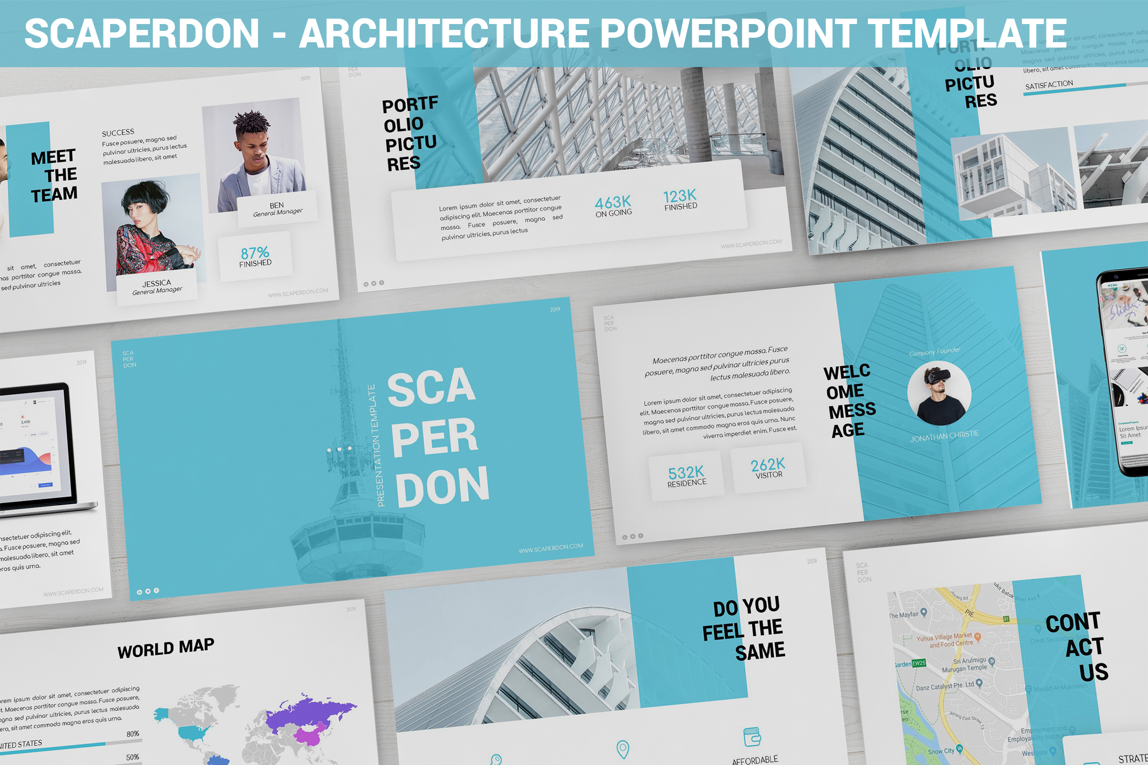 Scaperdon - Architecture Powerpoint Template example image 1