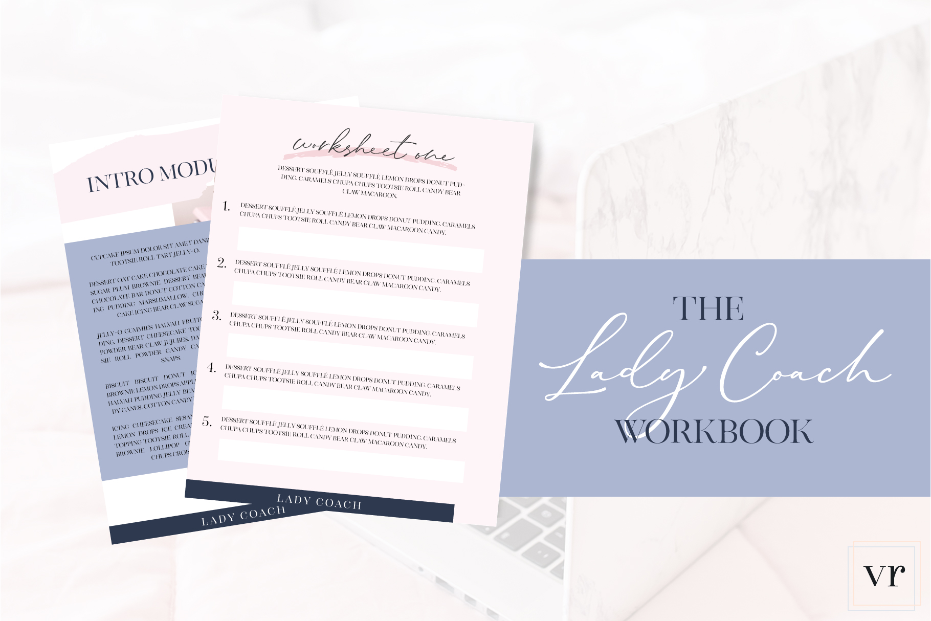 Lady Coach Workbook Canva Template example image 3