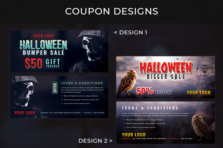 Halloween Big Bundle - flyers, banners, social media etc. example image 6