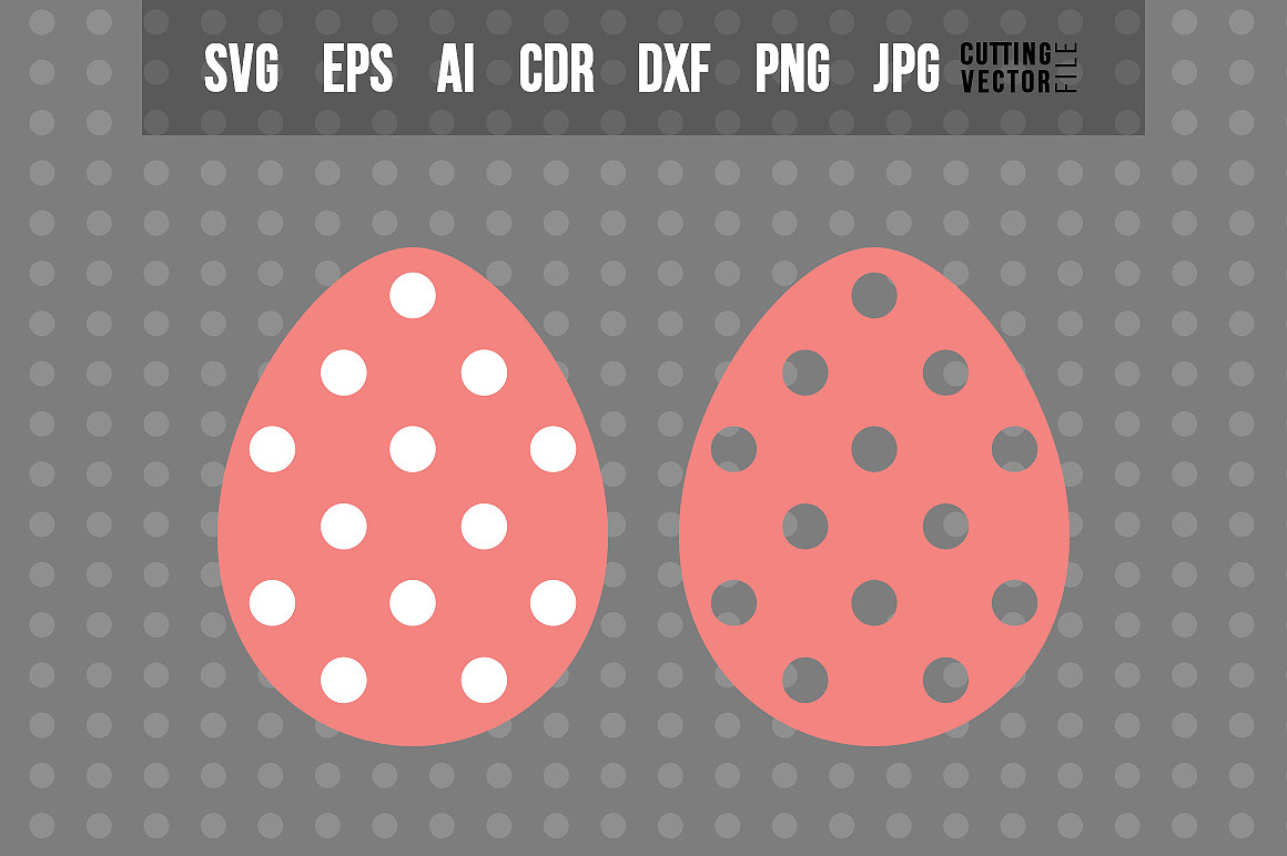 Easter Egg with Polka-Dot Decoration example image 1