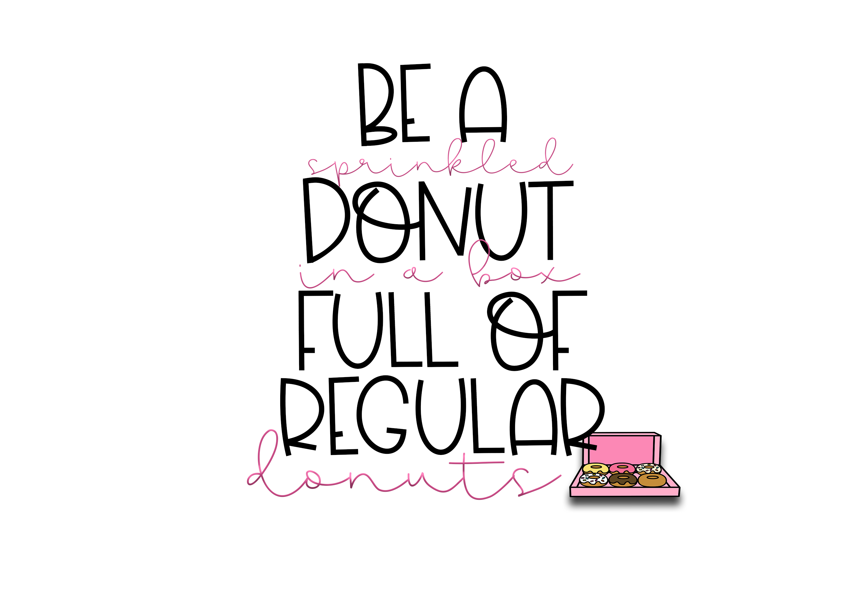 Sprinkled Donut - A Handwritten Font example image 10