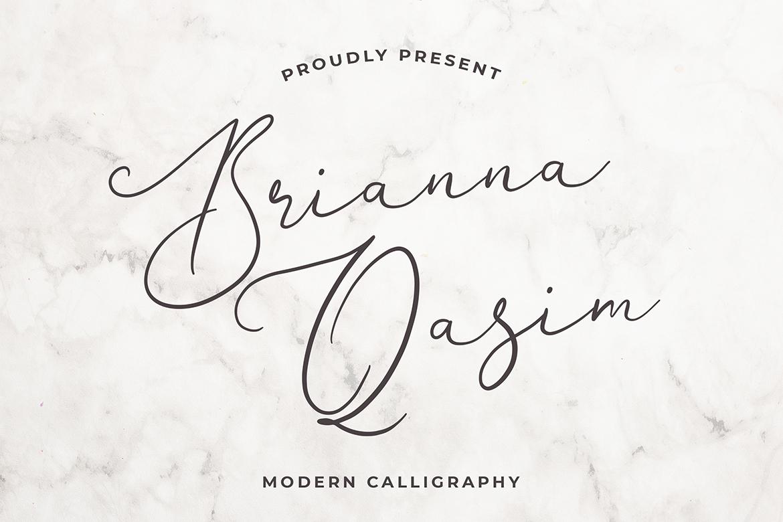 Brianna Qasim Calligraphy Font example image 1