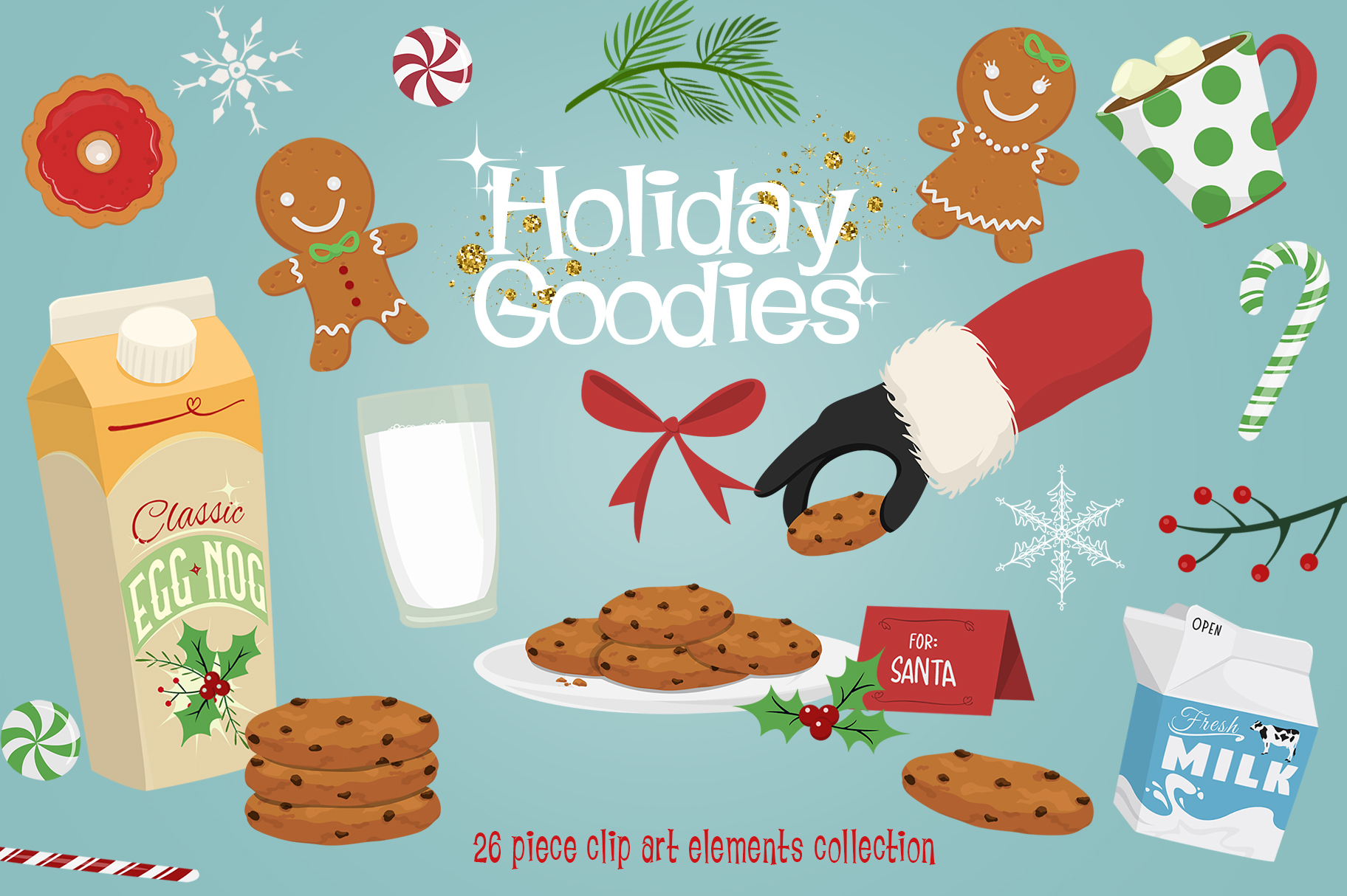Holiday Goodies Cookies & Milk example image 1