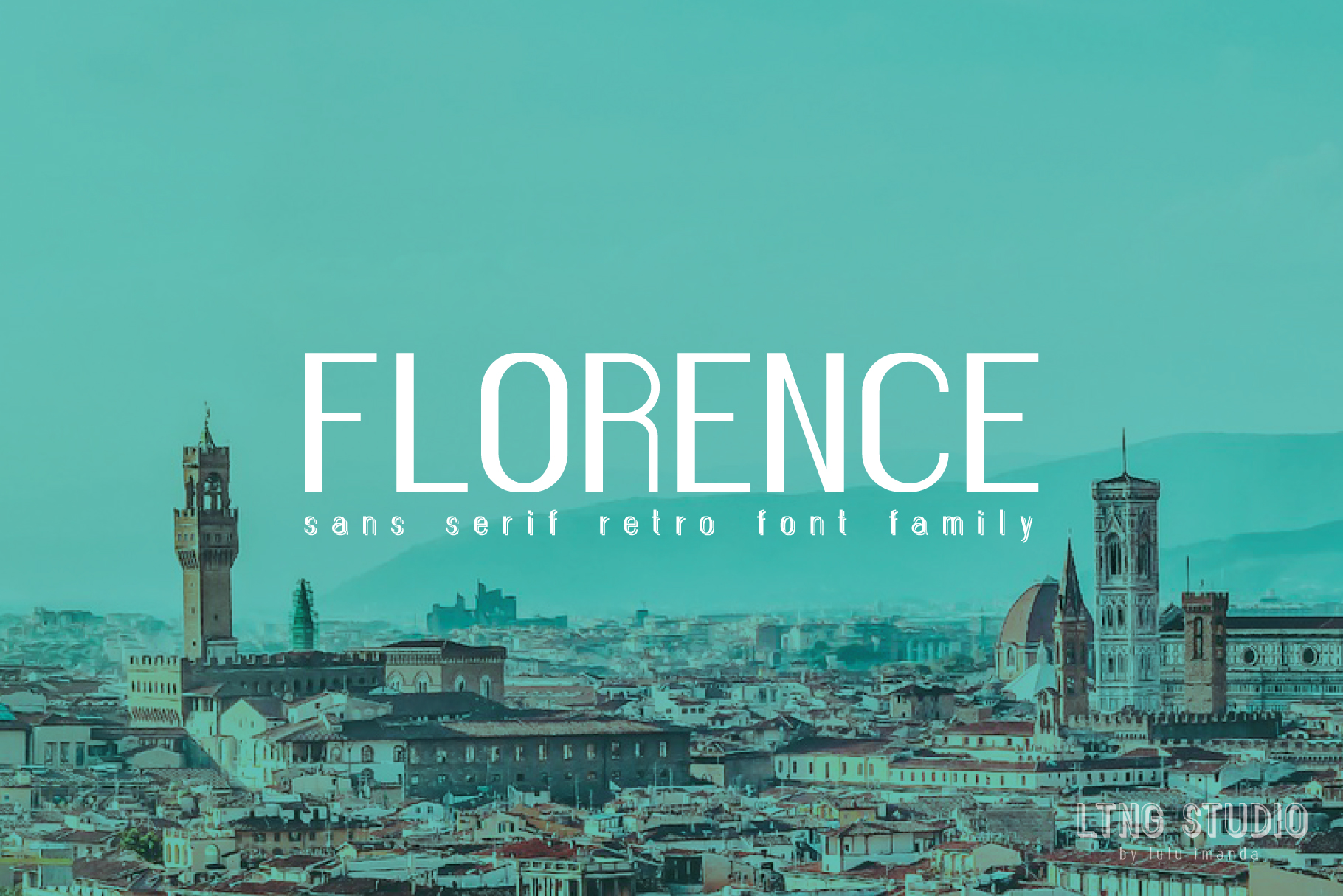 FLORENCE font family example image 1