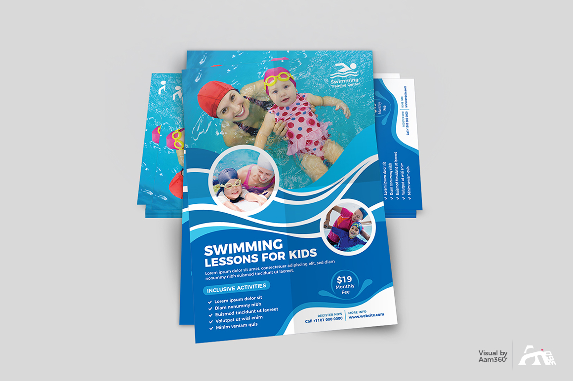 Kids Swimming Lessons Flyer example image 4