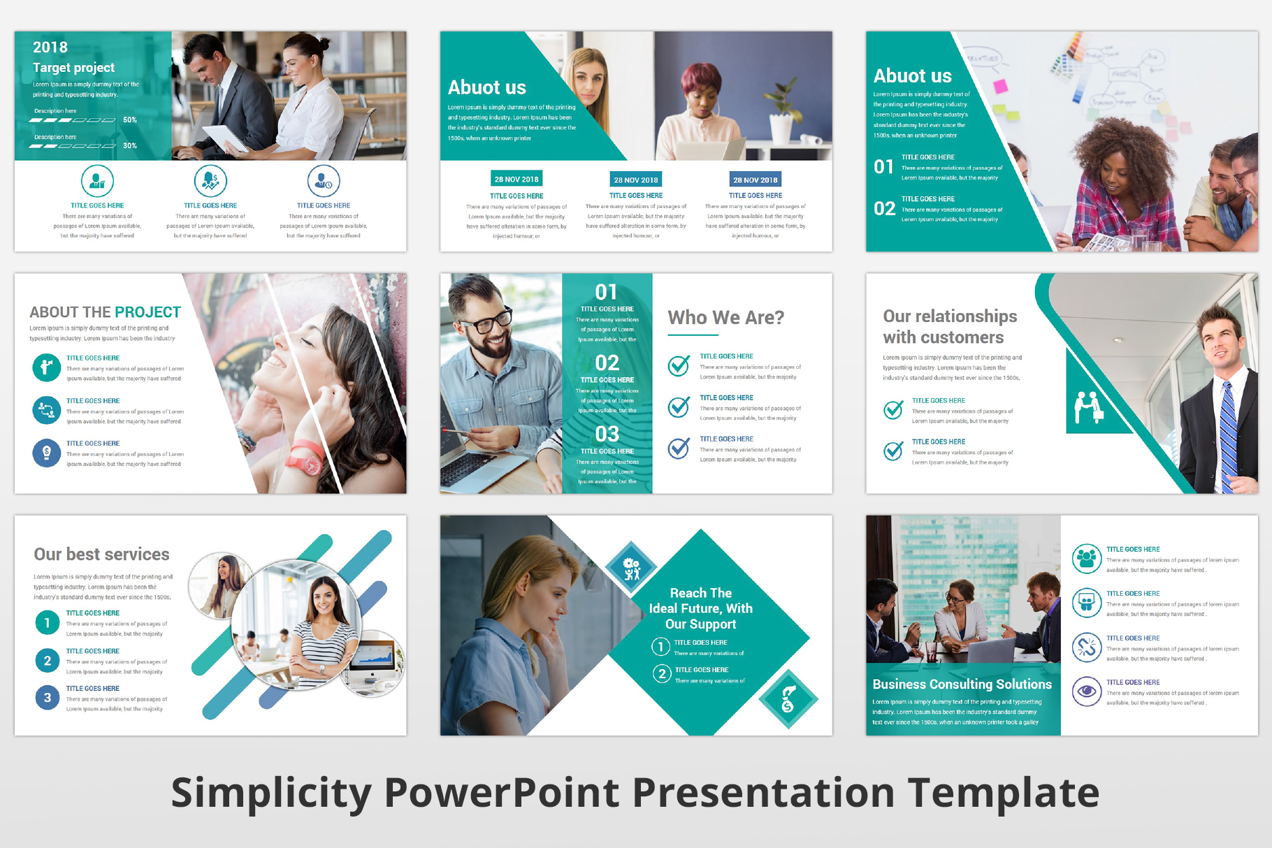 Simplicity multipurpose PowerPoint Presentation Template example image 5