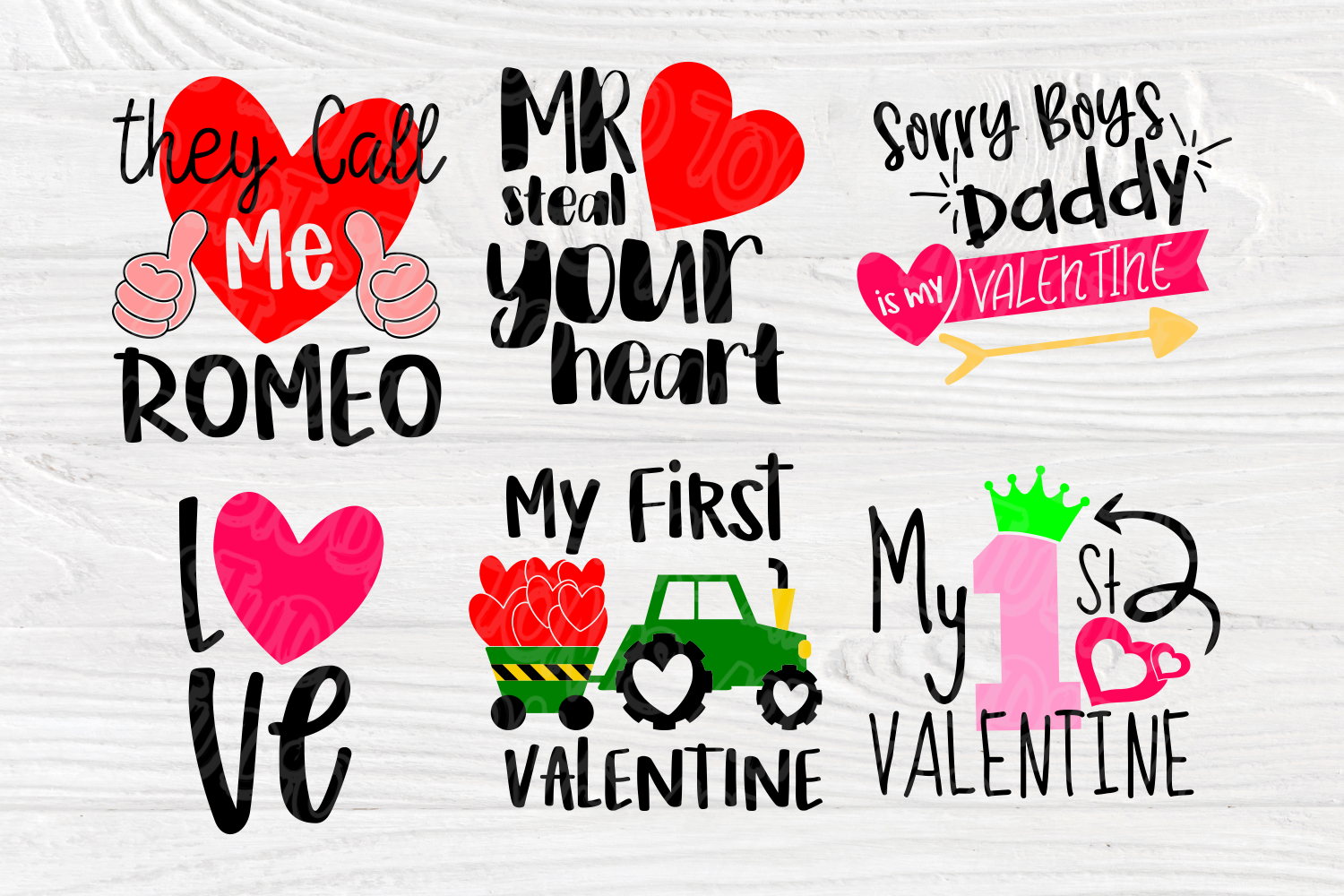 Valentine's Bundle SVG   Cut Files for Crafters   Kids SVG example image 3