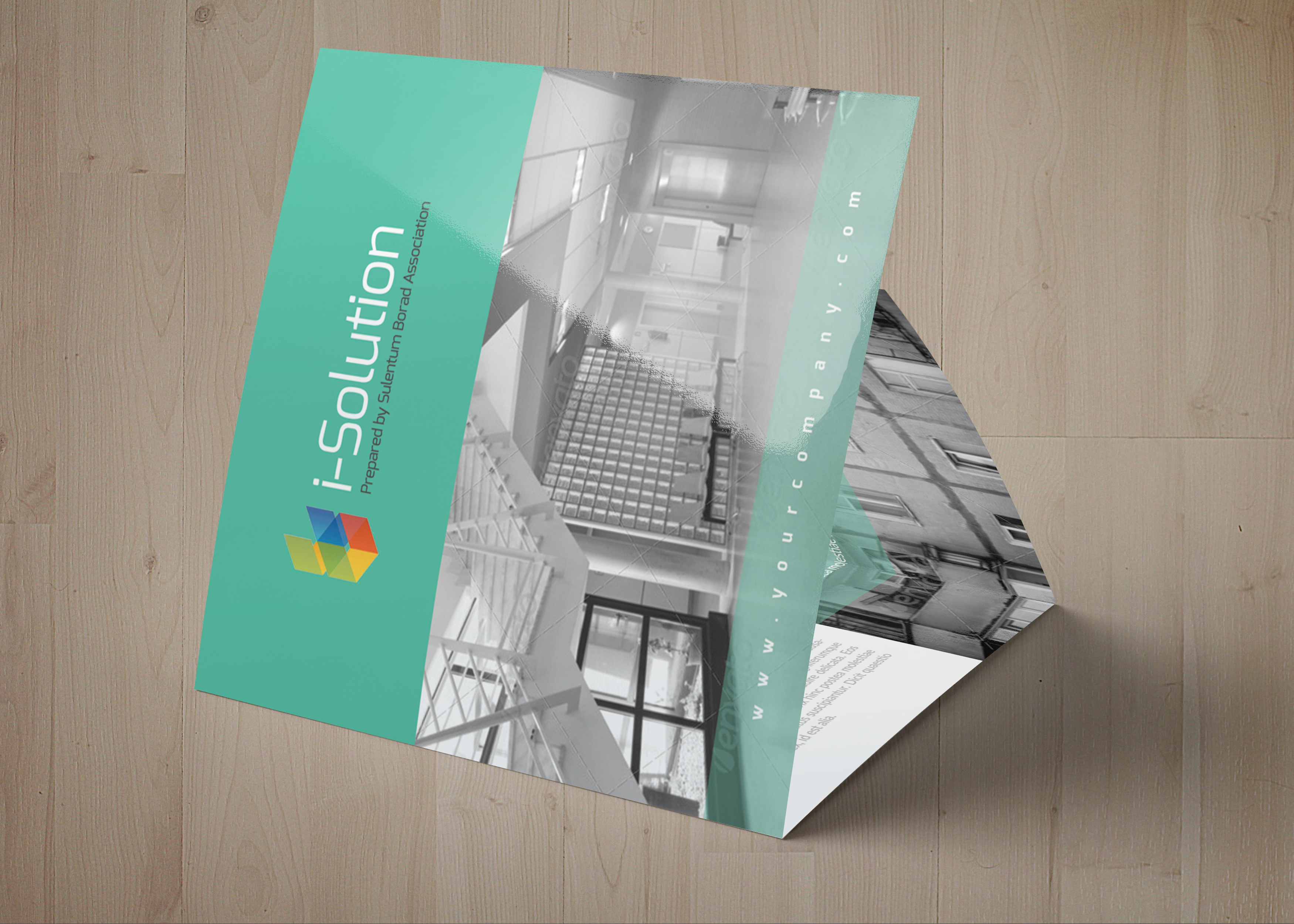 Business Solution Square Trifolde Brochure example image 5