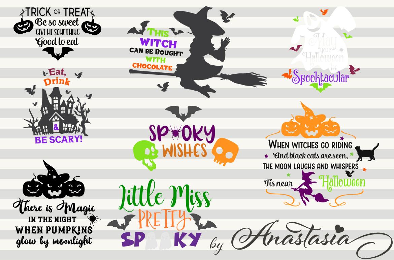 SVG Halloween Bundle -16 Cutting files and 15 Bonus Halloween Elements - Cut Ready SVG for Halloween example image 3