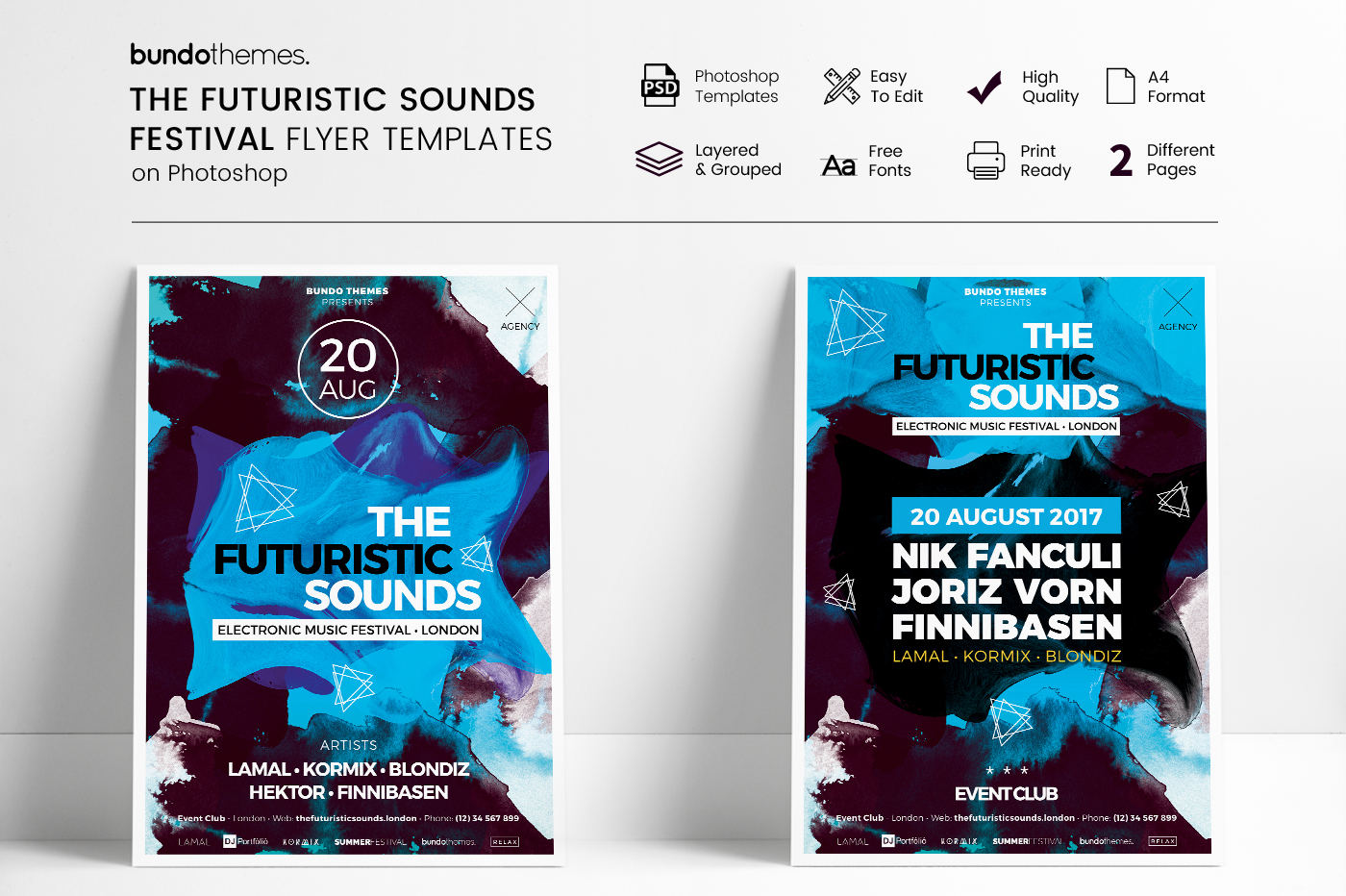 The Futuristic Festival Flyer Template example image 1