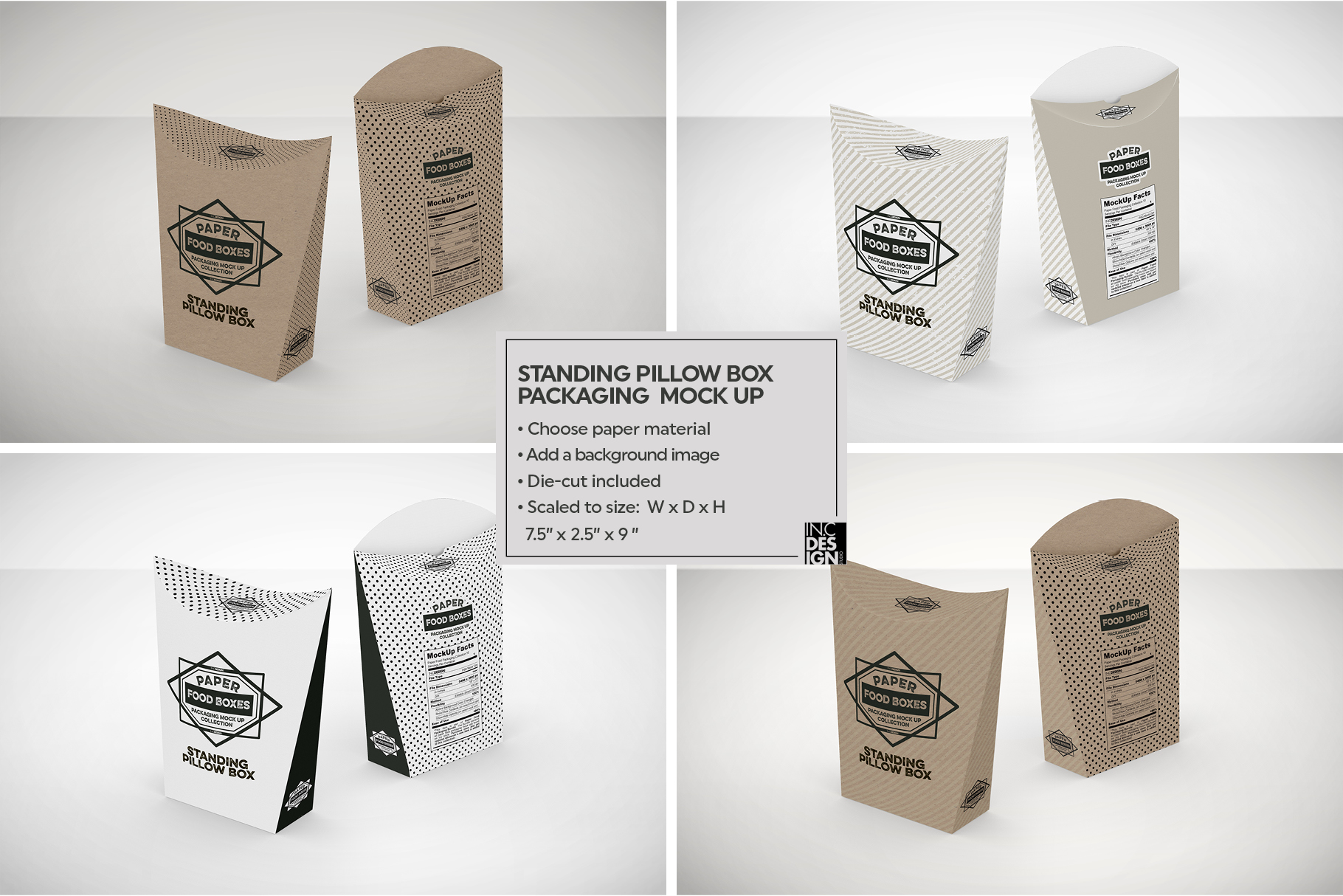 vol 5 food box packaging mockups by inc design bundles