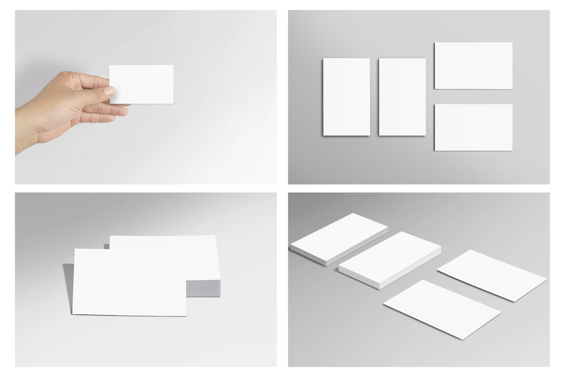 6 Style Business Card Mockups example image 9