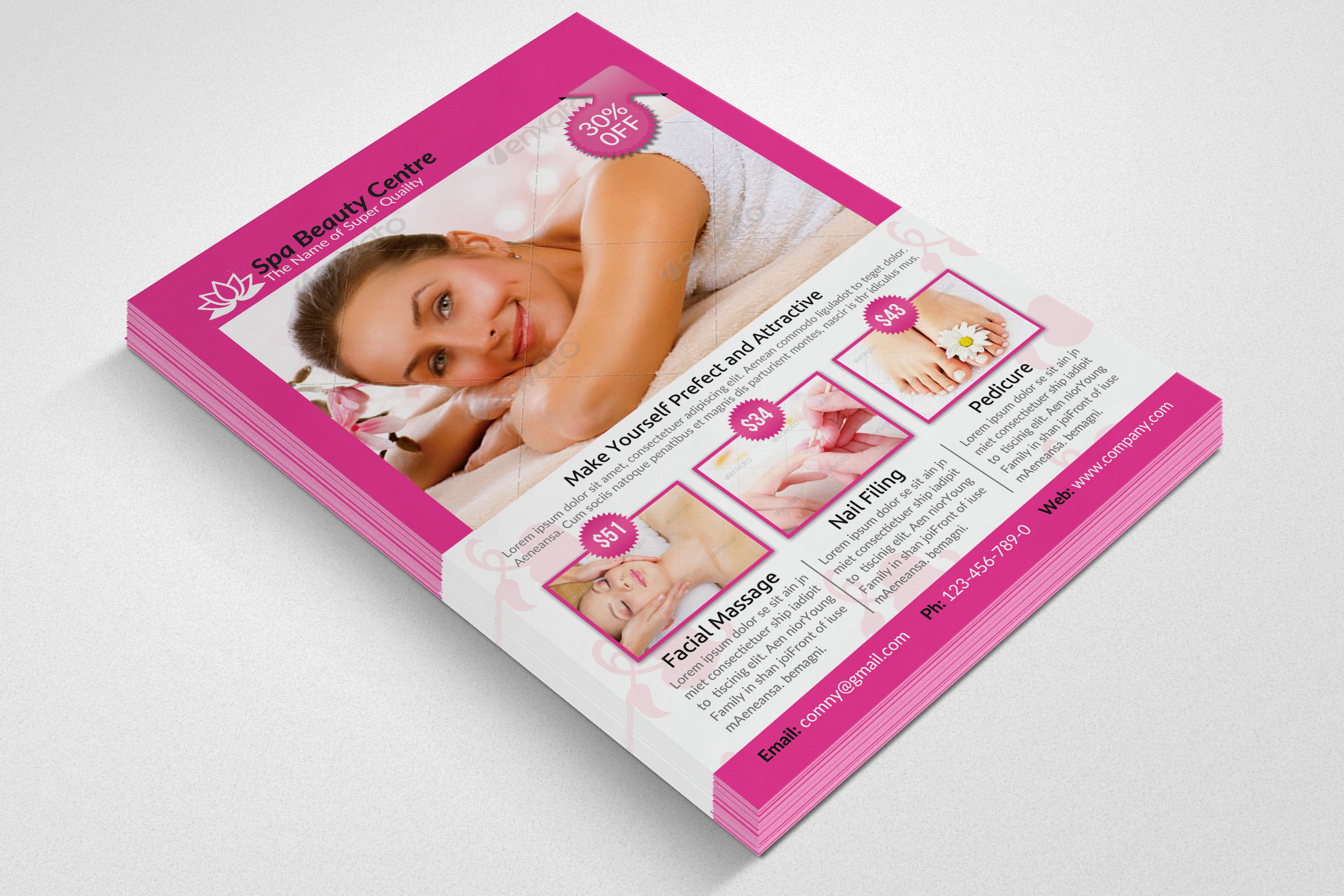 Beauty Spa & Massage Flyer example image 3