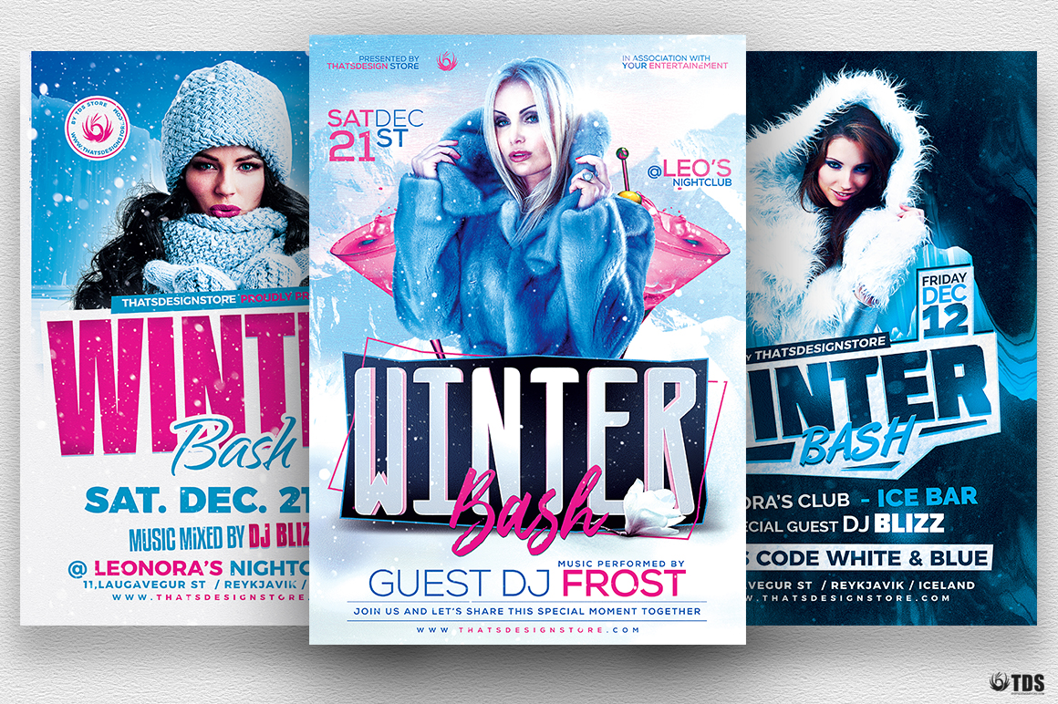Winter Bash Flyer Bundle example image 1