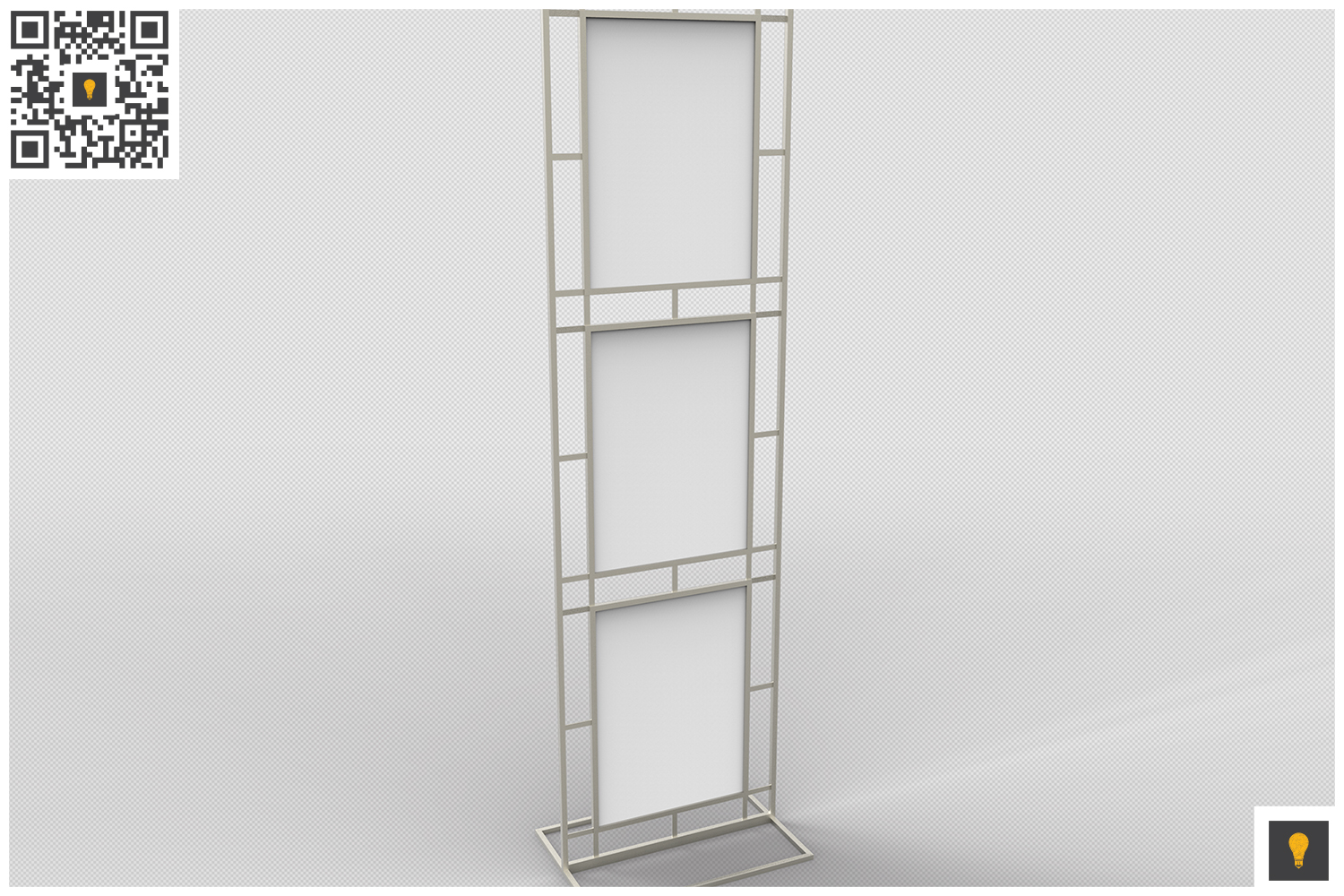 Poster Stand Display 3D Render example image 2