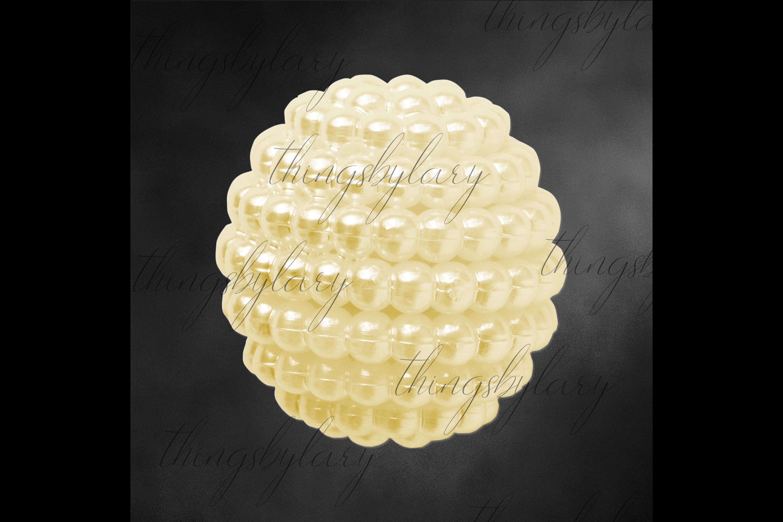 100 Pearl Pomander Digital Clip Art Jewelry Pearl Ball Image example image 6
