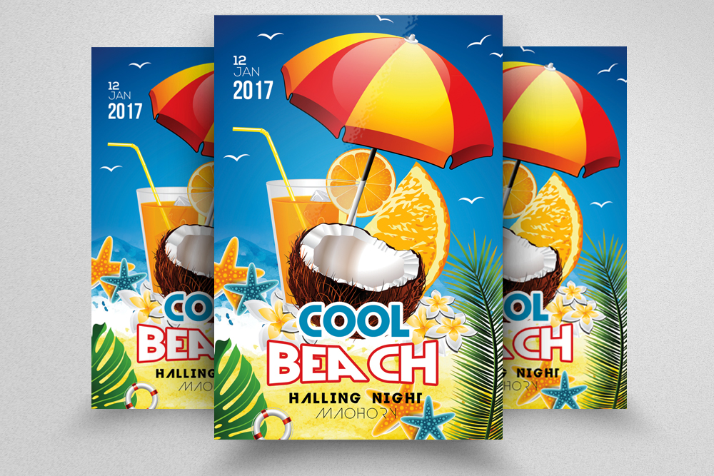 10 Summer Beach Party Flyers Bundle example image 4