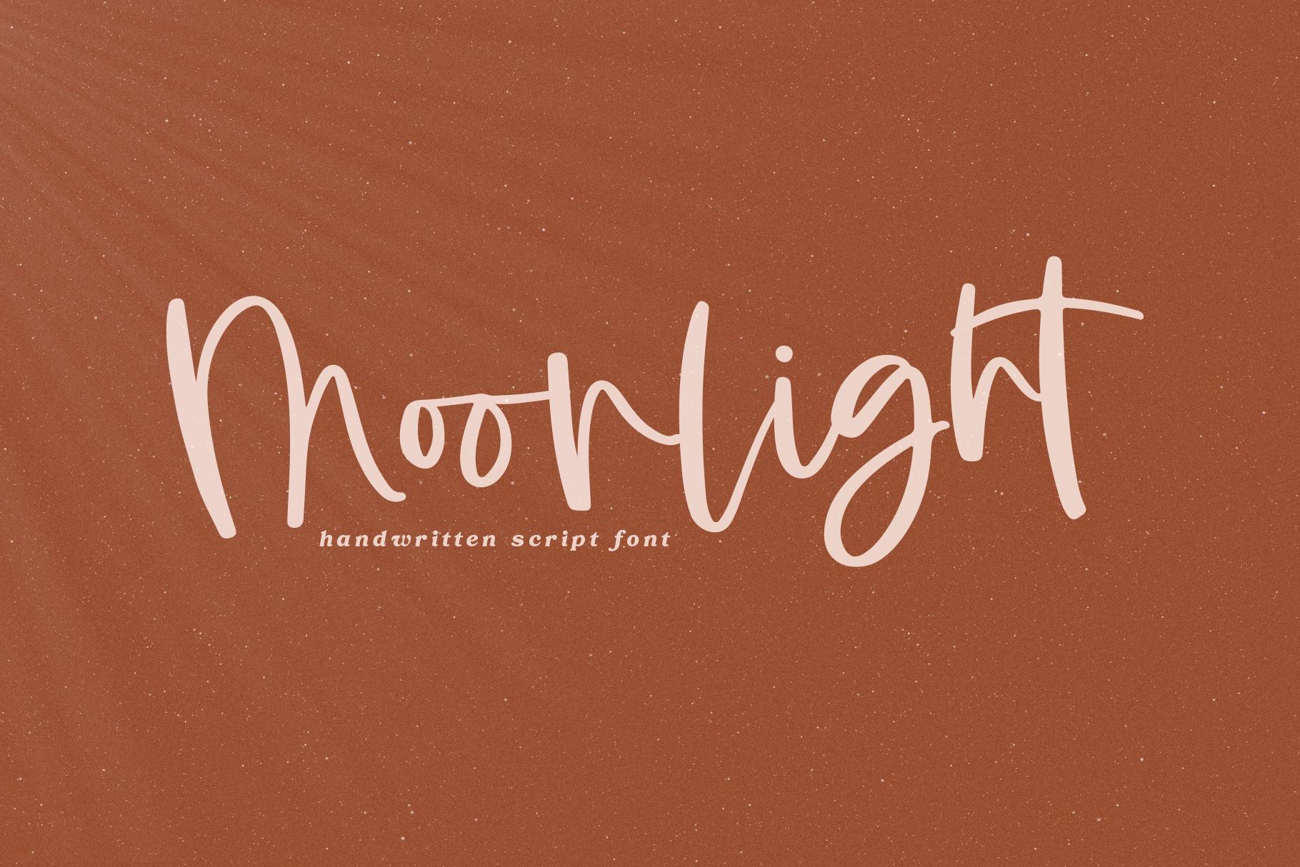 Moonlight - A Handwritten Script Font example image 1