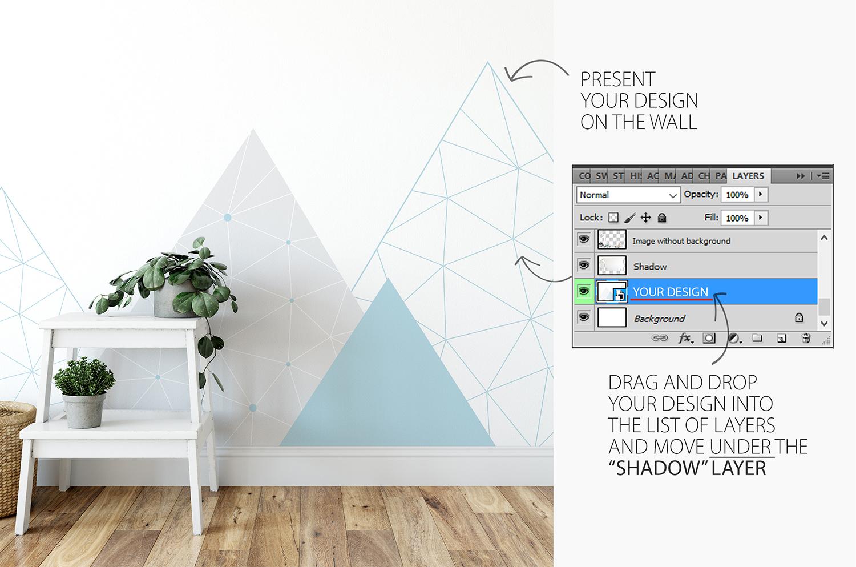 Scandinavian Interior Frames & Walls Mockup Bundle example image 5