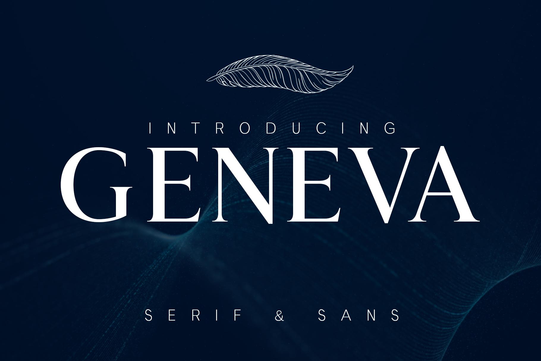 GENEVA - A family of 8 fonts example image 1