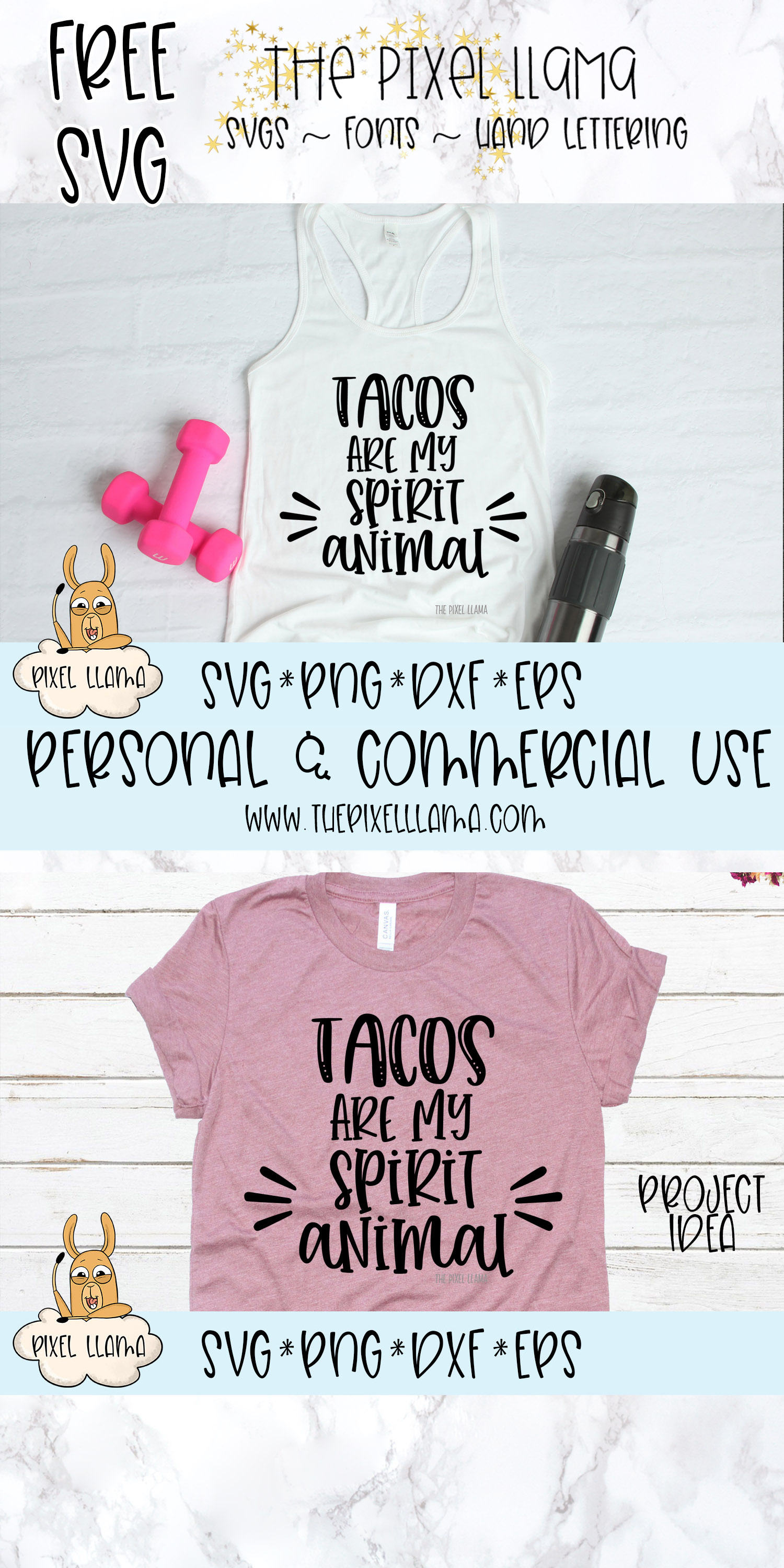 Tacos Are My Spirit Animal SVG example image 3