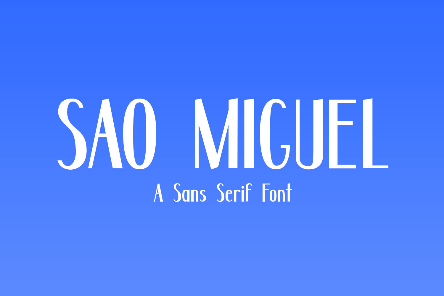 Sao Miguel - A Sans Serif Font example image 1