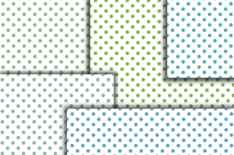 Pastel Polka dot digital paper. Dotted digital background example image 5